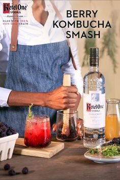 Buy Ketel One Vodka at liquor stores, bars, or restaurants near you. Party Drinks, Fun Drinks, Yummy Drinks, Beverages, Kombucha Cocktail, Cocktail Drinks, Drinks Alcohol Recipes, Non Alcoholic Drinks, Wooden Spoon