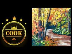 The Autumn Trail - A Cookie Crumbs...Live Lesson with Ginger Cook using Acrylic Paints for Beginners - YouTube