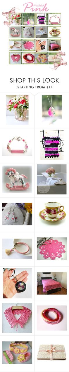 """""""Tickled Pink"""" by cozeequilts ❤ liked on Polyvore featuring As Is, Royal Albert, BMW and rustic"""