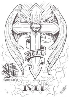 Cross tattoo designs ideas to make your happy 1 Mom Tattoo Designs, Cross Tattoo Designs, Tattoo Design Drawings, Tattoo Sketches, Cross Designs, Mom Tattoos, Skull Tattoos, Body Art Tattoos, Sleeve Tattoos