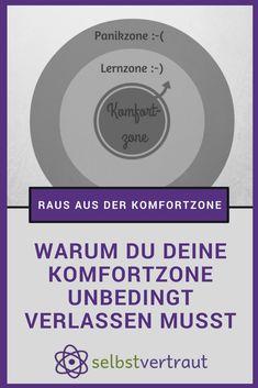 Raus aus der Komfortzone! #komfortzone #mut #selbstvertrauen