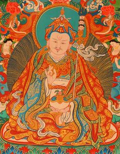 Padmasambhava, the founder of Buddhism in Tibet and the Vajrayana school, or Tantric Buddhism
