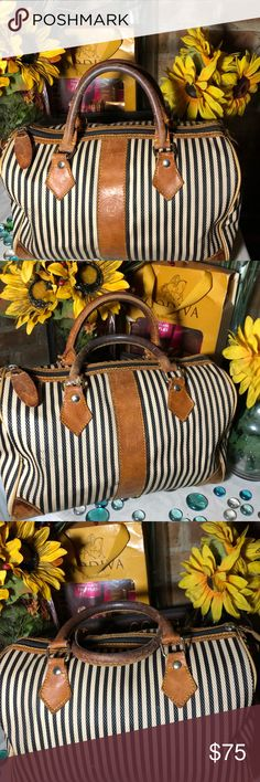 Vintage Fendi Bag Good vintage condition- Sz 9x12- one handle has been  repaired- clean interior- her bag. Fendi Bags Satchels
