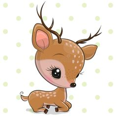 cartoon animals Cartoon deer isolated on a white background. Cute Cartoon deer isolated on a white background vector illustration Baby Animal Drawings, Cute Animal Drawings Kawaii, Cute Cartoon Drawings, Cute Cartoon Animals, Kawaii Drawings, Disney Drawings, Baby Cartoon, Cute Images, Cute Pictures