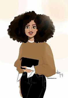 Drawing Realistic Skin Nicholle Kobi — Always keep the smile no matter what. Black Girl Art, Black Women Art, Black Girls Rock, Black Girl Magic, Art Girl, Natural Hair Art, Pelo Natural, Natural Hair Styles, African American Art