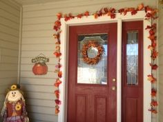 Fall Porch Decor, Fall Decor, Fall Porch, Porch, Yard Decor, Holiday, Autumn Leaves, Home Decor, Fall Yard Decor