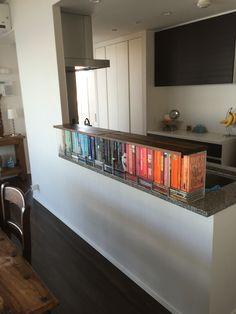 Book themed kitchen bar