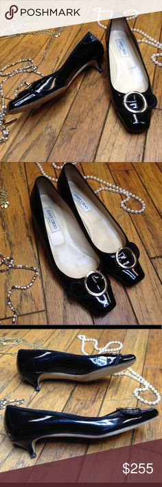 Jimmy Choo black kitten heels 🌺 In excellent used condition. Please ask questions before purchasing. Jimmy Choo Shoes Heels