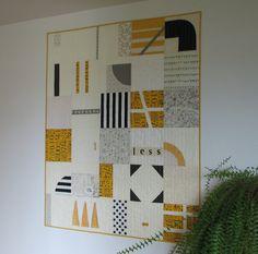 Modern Quilt Art Quilt Lap Quilt Black by CentralFabrications