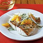 Sautéed Snapper with Orange-Fennel Salad Recipe   MyRecipes.com