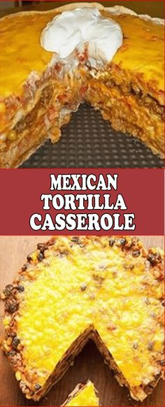 Cazuela de Tortilla Mexicana - Weight Watchers Friendly Recipes By Yummy'nSunny - Mexican Tortilla Casserole, Tortilla Bake, Round Cake Pans, Round Cakes, Mexican Empanadas, Casserole Recipes, Cake Recipes, Seasoning Mixes, Flour Tortillas