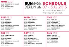 RUNBASE Berlin Termine & Kursplan für die adidas Runbase Berlin   Sports Insider Magazin