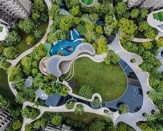 Landscape Plane, Landscape Concept, Landscape Architecture Design, Green Architecture, Concept Architecture, Urban Landscape, Bungalows, Site Plan Design, Resort Plan