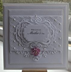 Hi everyoneRecipe for todays cards is.Spellbinders squares, Spellbinders majestic labels Spellbinders classic leaf, Joy crafts corner, sentiment is from justrite, Tonic elegant vine oval. Wedding Anniversary Cards, Wedding Cards, Stampin Up, Spellbinders Cards, Embossed Cards, Die Cut Cards, Heartfelt Creations, Mothers Day Cards, New Crafts