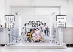 Let's Make The Office Great Again! Let's Make The Office Great Again! on Behance Exhibition Booth Design, Exhibition Display, Exhibition Stands, Exhibit Design, Web Design, Web Banner Design, Stand Design, Display Design, Frame Store