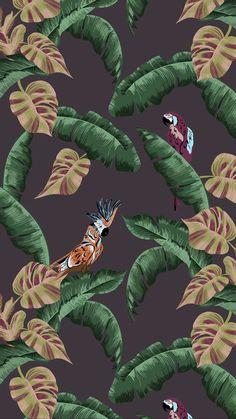 Best Iphone Wallpapers, Wallpaper Iphone Cute, Pretty Wallpapers, Fabric Wallpaper, Cartoon Wallpaper, Flower Lockscreen, Vaporwave Wallpaper, Tropical Art, Painting Patterns