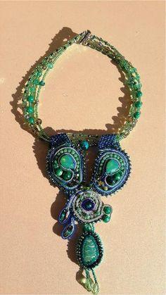 Glass beads necklace made by Nadezhda Ohkolas from LC.Pandahall.com  #pandahall