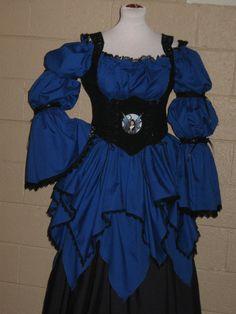 DDNJ Choose Fabric 3pc Renaissance Gothic Fairy Costume