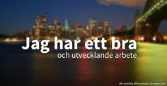 Positiva affirmationer #svenska #affirmationer #positivenergi