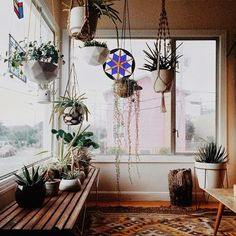 A macrame plant hanger is a great idea for any space. Throw it back to style with an adorable macrame plant hanger! Add more greenery and life to room! Patio Interior, Interior Exterior, Interior Design, Ideas Hogar, Relax, Modern Spaces, Modern Retro, My New Room, Cozy House