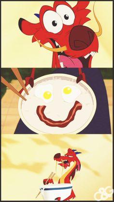 """look i made porridge, and it's happy to see ya!"""