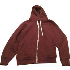 Brown hooded sweatshirt AMERICAN APPAREL (€32) ❤ liked on Polyvore featuring tops, hoodies, jackets, clothes - tops, clothing - hoodies, red top, red hoodies, sweatshirt hoodies, cotton hoodies and american apparel