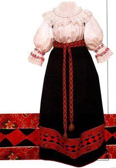 Русский народный девичий венчальный костюм