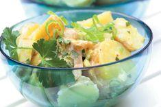 Lehký bramborový salát Cantaloupe, Potato Salad, Shrimp, Food And Drink, Potatoes, Fruit, Ethnic Recipes, Cooking Ideas, Fitness