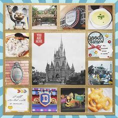 """Simple but perfect layout! Disney Magic Kingdom Project Life scrapbook layout created by pusticks featuring """"Project Mouse"""" by Sahlin Studio & Britt-ish Designs"""
