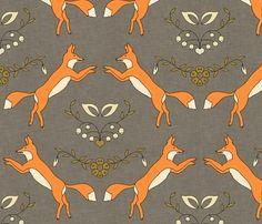 Spring Sale Hurry Now Woodland Fox Grey and by OrangeBlossom805