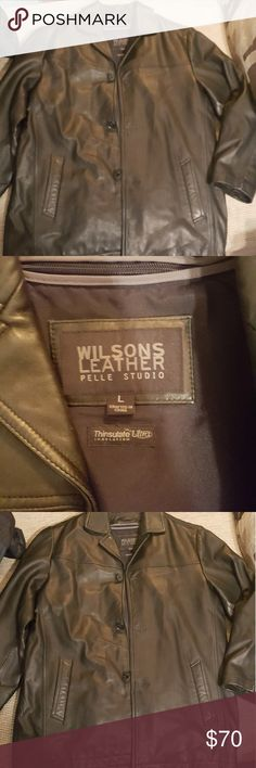 Very Nice Mens Leather Coat Wilson's Leather Wilson's Leather Coat Mens Size Large Wilsons Leather Jackets & Coats