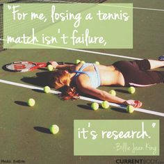 True not only in tennis but all of life if we choose to learn. #motivational #tennis #quote of the day! #TakeTwoVisor