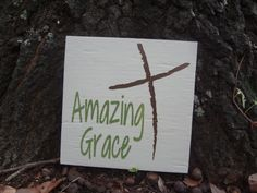 Amazing Grace Hand Painted Sign by PurePaintedSigns on Etsy