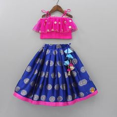 Shop online for Indian Ethnic wear for your baby, toddler or child. Choose from a range of modern or traditional, vibrant and colourful outfits. We also customise Indian Ethnic Wear. Kids Party Wear Dresses, Kids Dress Wear, Dresses Kids Girl, Baby Dresses, Birthday Dresses, Girls Frock Design, Kids Frocks Design, Baby Dress Design, Blue Lehenga