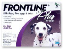 The Home and beyond store - Merial Frontline Plus Flea and Tick Control for 45 to 88-Pound Dogs, 6 Applicators