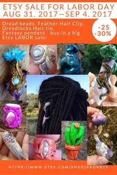 Dread Bead 7mm Dread Jewelry Dread Pendant Hair Accessories Hair Accessories Dreadspiral Feather Feather Hair Jewelry Festival Boho Hippie