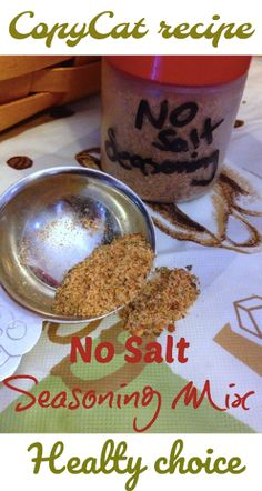 Easy CopyCat Recipe - Homemade No Salt Seasoning {Healthy Recipes} - easy peasy . - Easy CopyCat Recipe – Homemade No Salt Seasoning {Healthy Recipes} – easy peasy - No Sodium Foods, Low Sodium Recipes, Low Sodium Meals, Healthy Recipes For Diabetics, Heart Healthy Recipes, Vegetarian Recipes, Homemade Spices, Homemade Seasonings, Salt Free Recipes