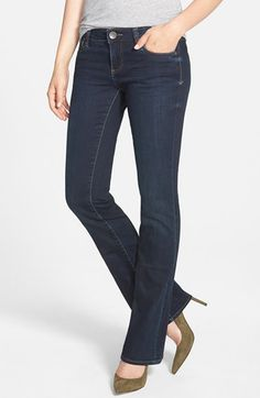 KUT from the Kloth 'Natalie' Stretch Bootcut Jeans (Beneficial) available at #Nordstrom