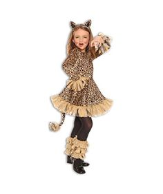 cool Lovely Leopard Jungle Cheetah Animal Girls Halloween Costume