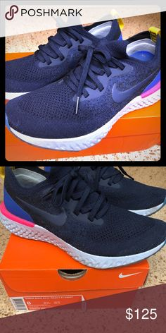 bba3a9c84cd Woman s Nike Epic React Flyknit Barely worn. Size 8. Nike Shoes Sneakers  Xmas