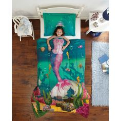 Decorating theme bedrooms - Maries Manor: underwater bedroom ideas - under the sea theme bedrooms - mermaid theme bedrooms - sea life bedrooms - Little mermaid princess Ariel - Sponge Bob theme bedrooms - mermaid bedding - Disney's little mermaid Kids Comforter Sets, Girls Bedding Sets, Girls Bedroom, Blue Comforter, Beach Bedrooms, Girl Bedding, Green Bedding, Kid Bedrooms, Bedroom Decor