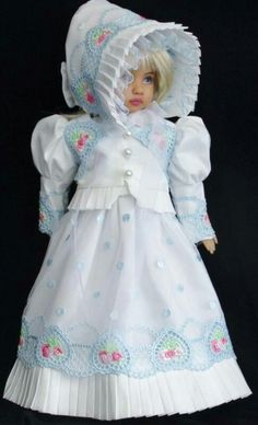 Handmade dress set made for Effner Little Darling doll