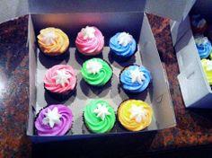 Neon cupcakes :) x