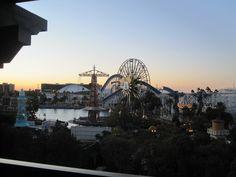 Disney's California Adventure at sunset.