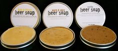 Lots of cool soaps/etc...the beer soap collection. $18.00, via Etsy.