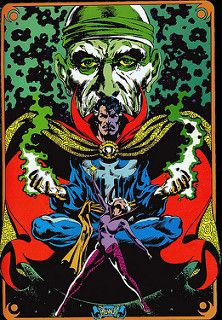 Dr Strange, Clea, and the ancient one By: Frank Brunner.