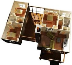 Plan 92318MX: 3 Bedroom Dog Trot House Plan