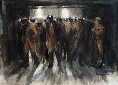 Valerie Ganz - The Bond Advanced Higher Art, Landscape Structure, Coal Miners, Gcse Art, Sketchbook Inspiration, High Art, Urban Life, Watercolor Paintings, Watercolors