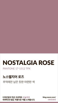 [오늘의 빛: 오늘의 색] 노스탤지어 로즈 : 네이버 블로그 Colour Pallete, Colour Schemes, Color Patterns, Pantone Colour Palettes, Pantone Color, Paleta Pantone, Solid Color Backgrounds, Color Shades, Mauve Color