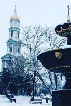Winter in Kharkiv, Ukraine.